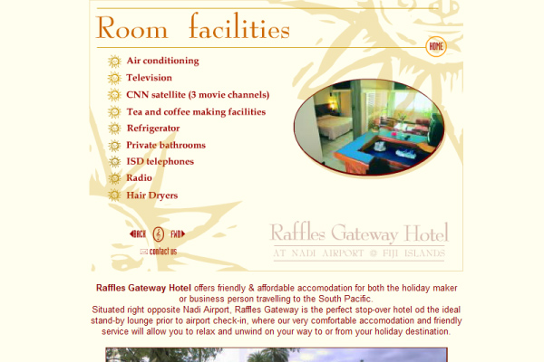 Raffles Gateway Hotel - Pagina flash