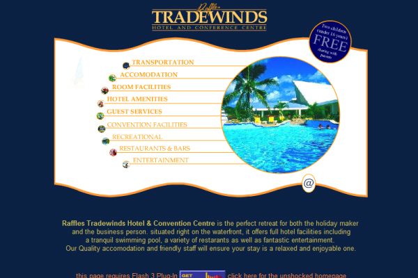 Raffles Tradewinds Hotel - Home flash