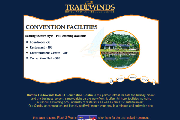Raffles Tradewinds Hotel - Scena flash