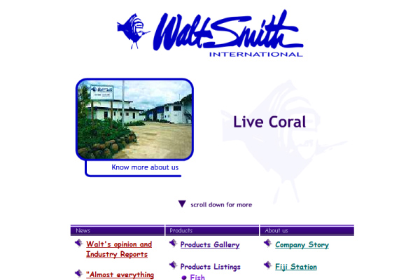 Walt Smith - Homepage 2002