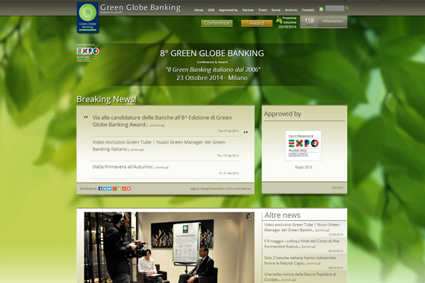Green Globe Banking - Sito - Homepage